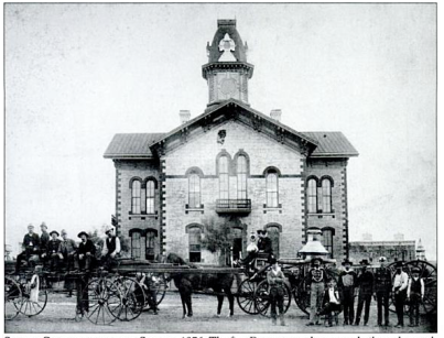 Denton's 2nd courthouse, 1876
