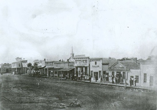 West side of the Denton Square, 1876