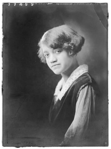13-yr-old Myrtle Bell Moten, daughter of Quakertown physician Dr. E.D. Moten, ca.1923.