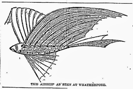 The Airship as seen at Weatherford TX - April 16 1897